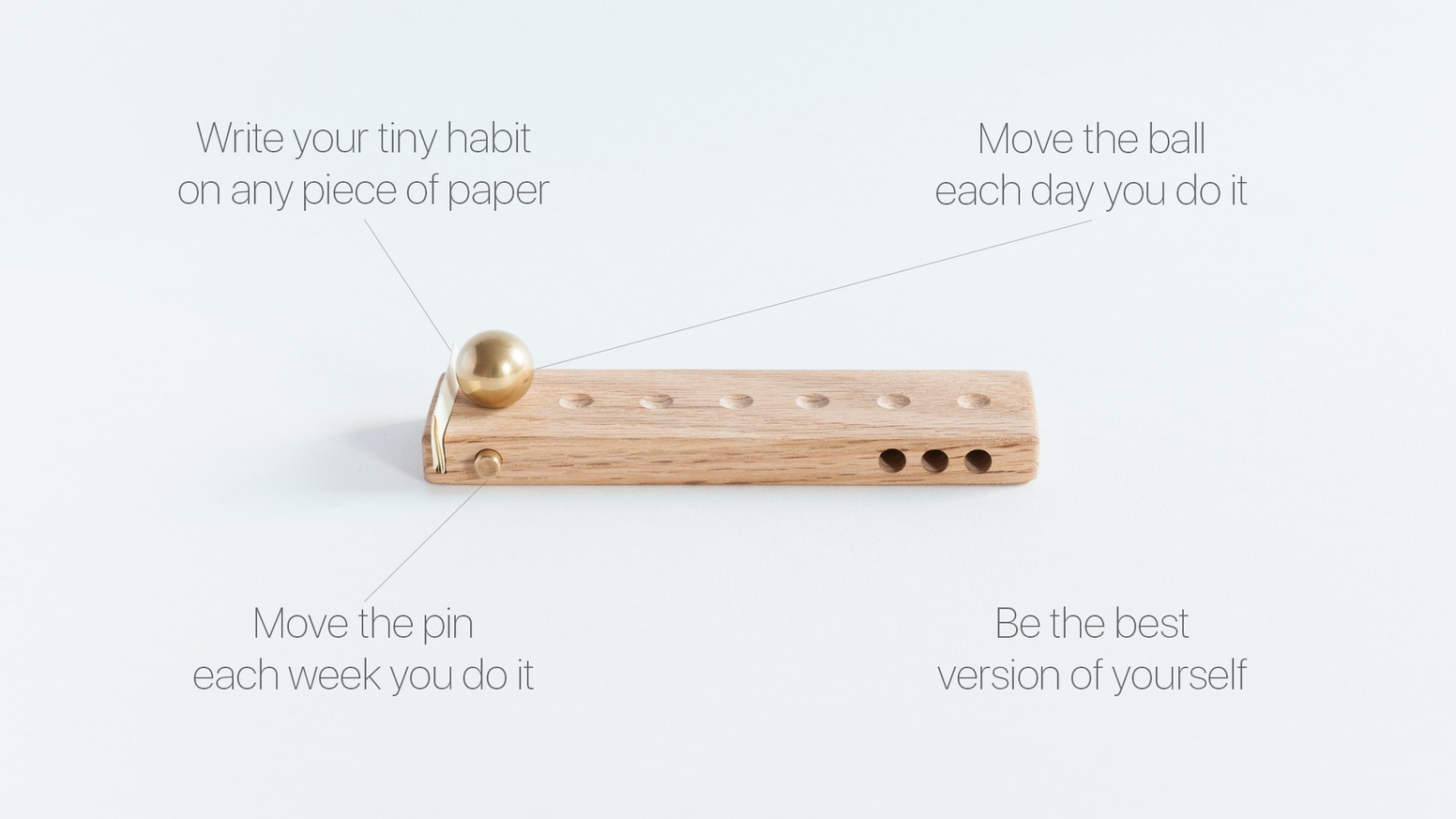 Pick a tiny habit. Track it. Improve. This habit tracker is individually handmade by two brothers in Brooklyn, NY.
