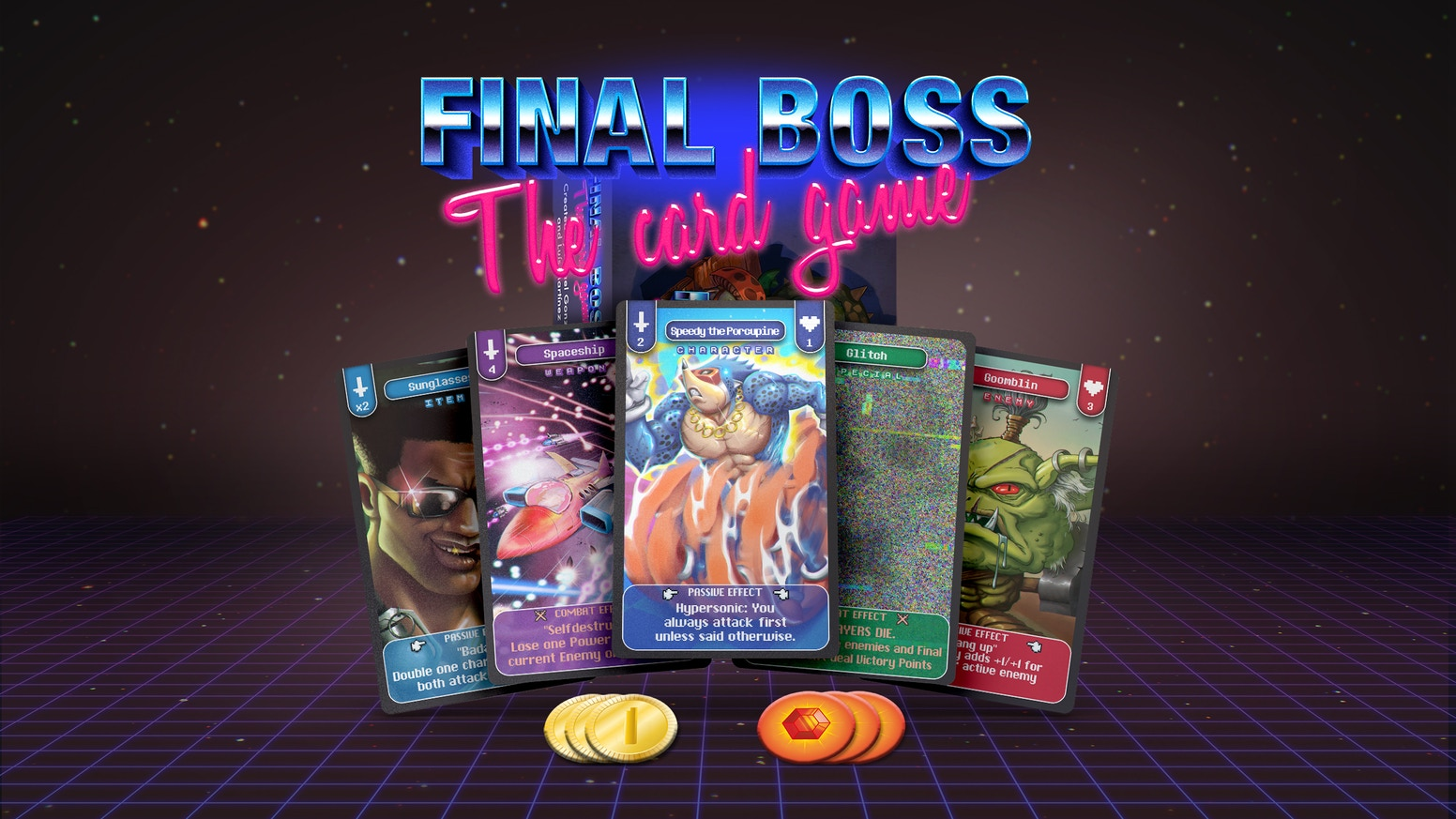 A competitive card game where players fight monsters, sabotage each other and try to defeat the Final Boss.