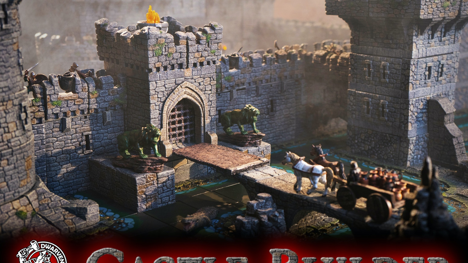 Attention gamers:  Build the ultimate castle using our hand painted (or paint yourself) modular terrain.