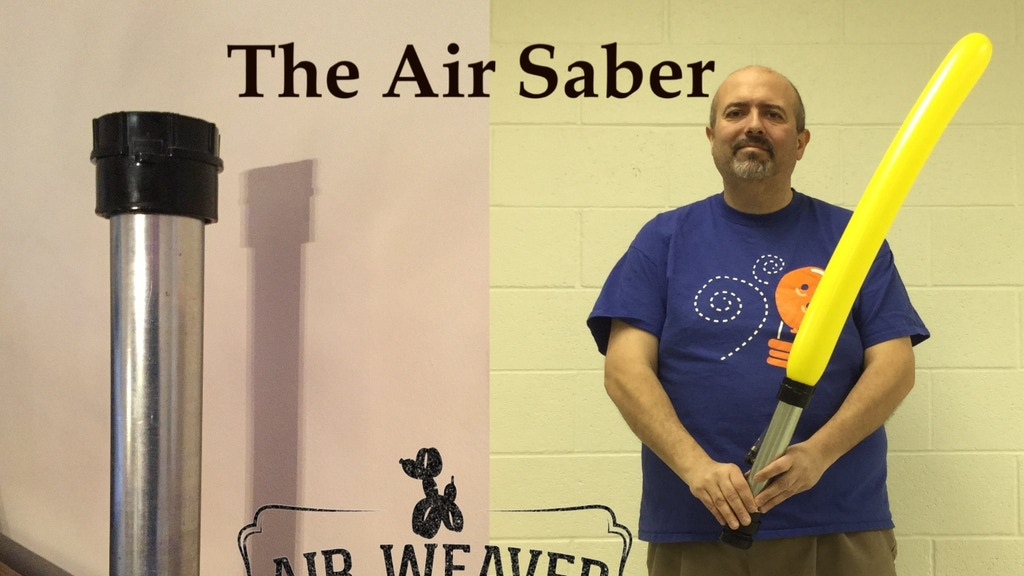 Air Saber Prop for Magicians Balloon Artists and Cosplayers project video thumbnail