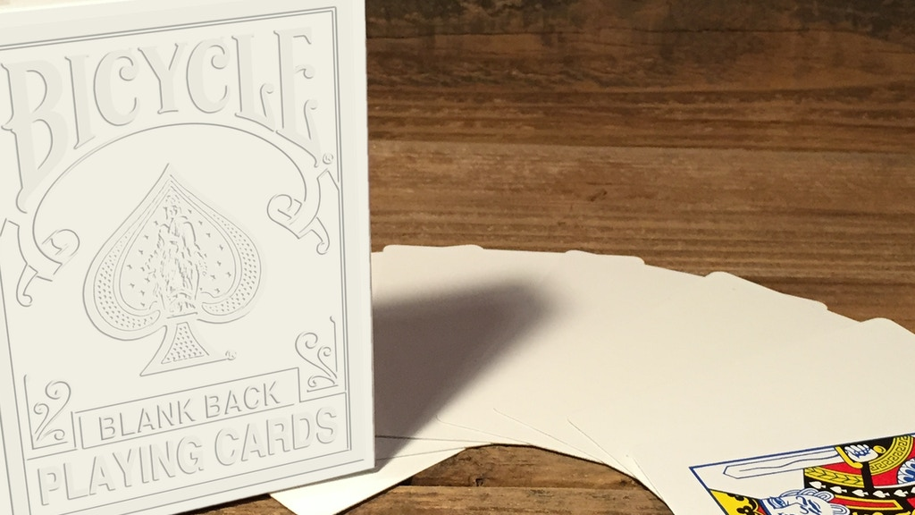 Project image for Bicycle®, Blank Back & All Blank Playing Cards (Canceled)