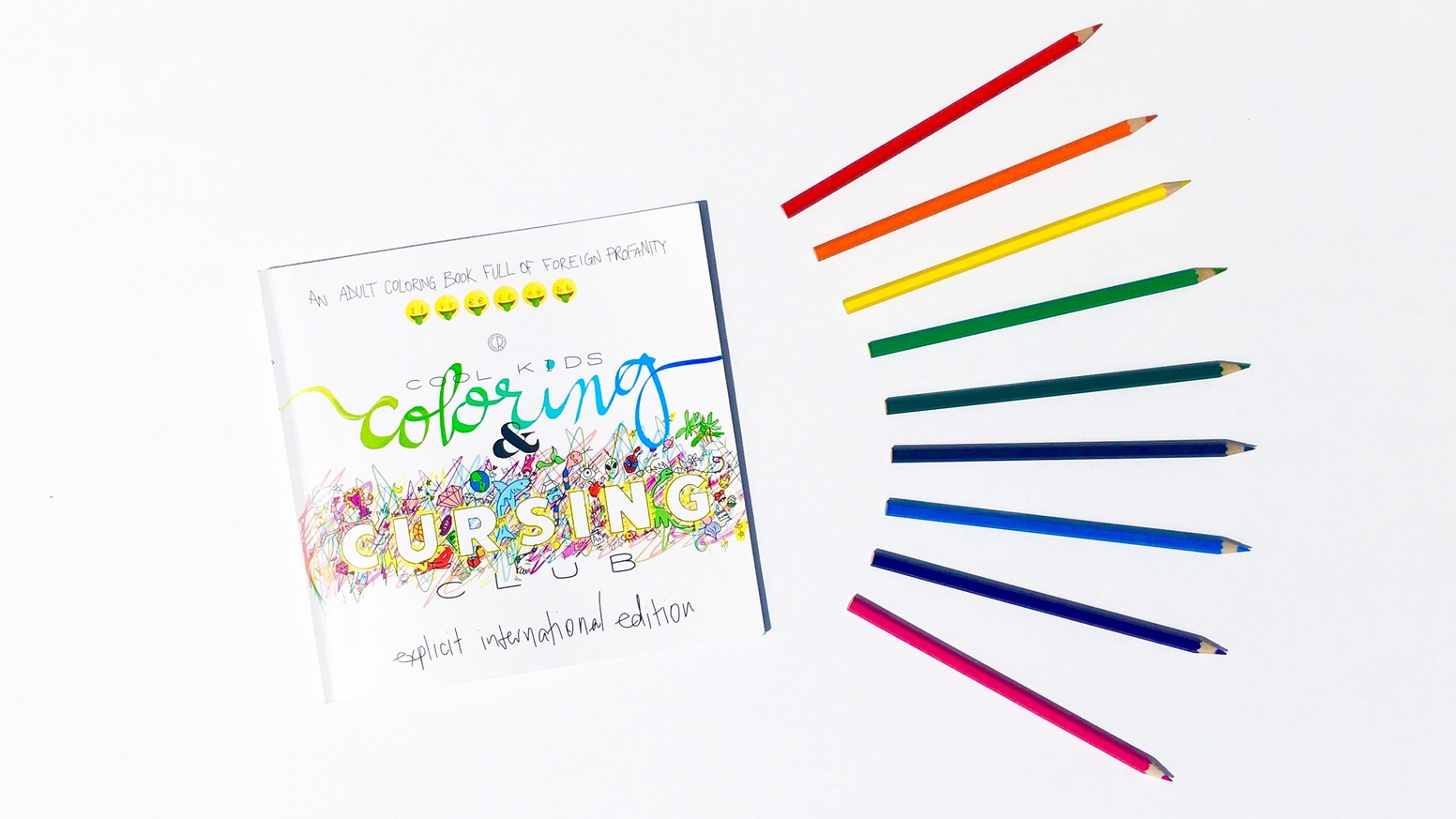 Learn some foreign bad words, color 'em in, and insult your friends all with this coloring book!