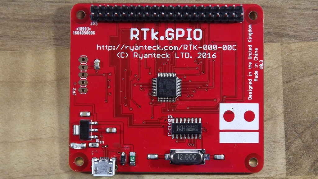 RTK.GPIO, a USB Raspberry Pi Compatible GPIO Header project video thumbnail
