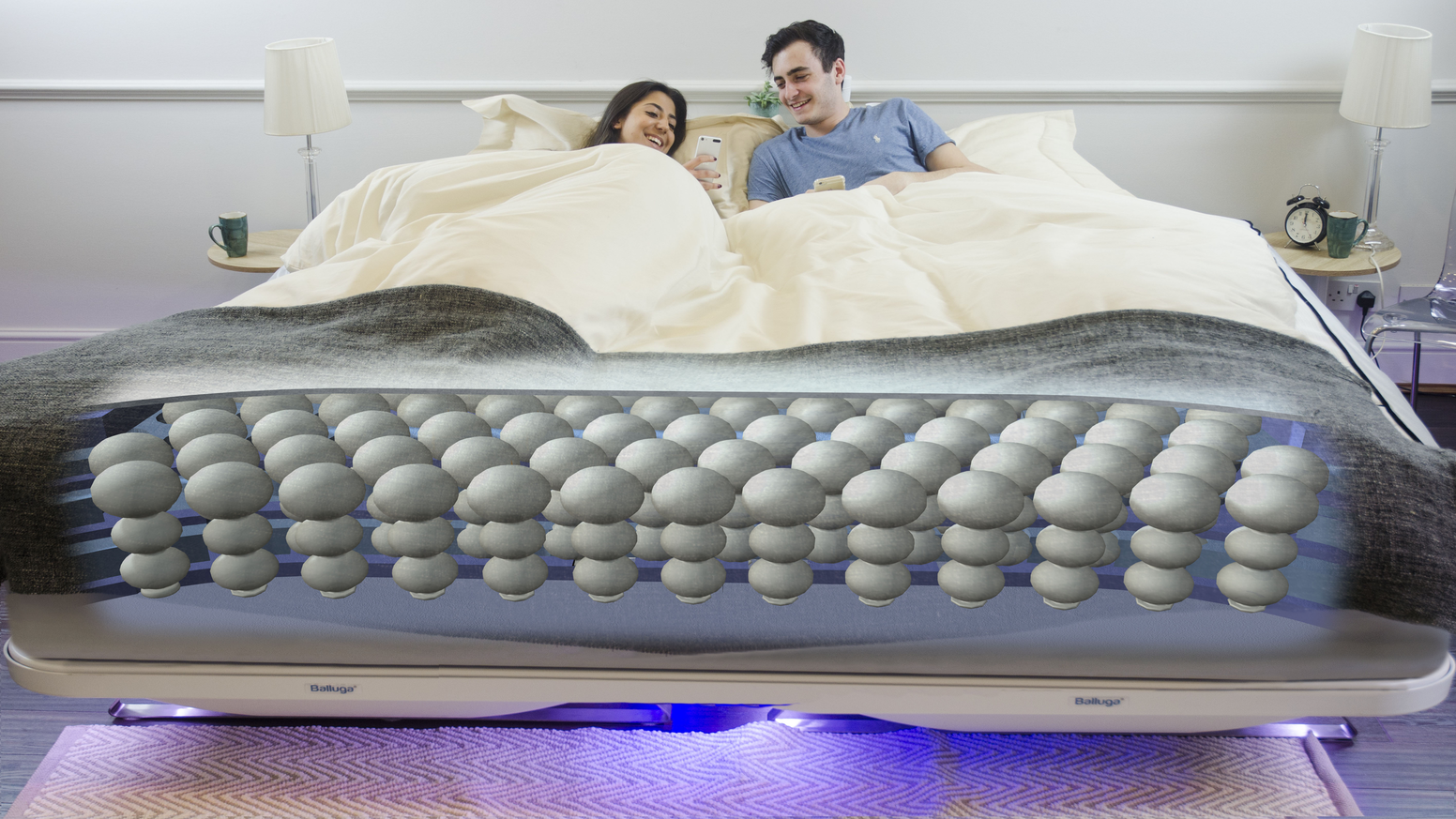 Never have a bad night's sleep again - Balluga sets your ideal temperature, gives you the perfect support and even stops you snoring