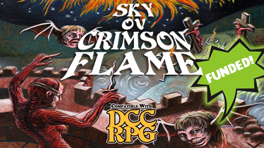 DCC RPG 0-level adventure: Sky ov Crimson Flame project video thumbnail