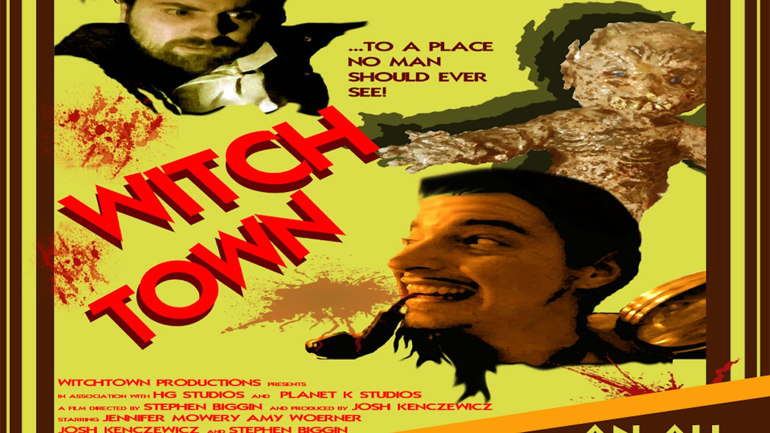 Hello! Our production company is in the process of creating a full length, fun horror film entitled WITCHTOWN.