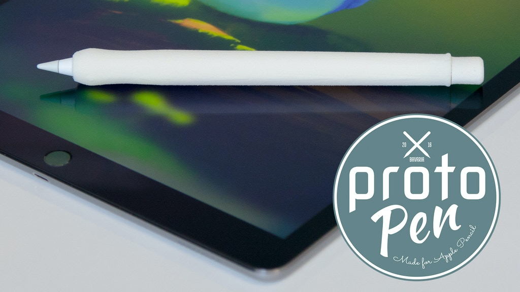 Project image for protoPen - the ergonomic Apple Pencil case for real artists