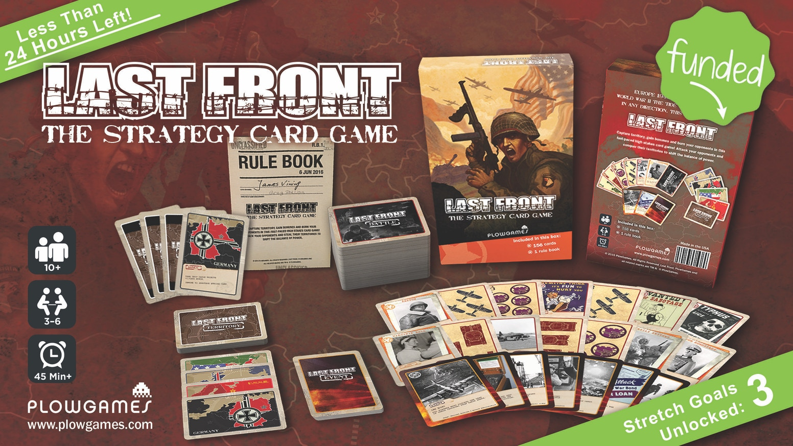 Deploy forces to out bid and out burn your opponents as you capture territories in this fast-paced card game set during WWII!