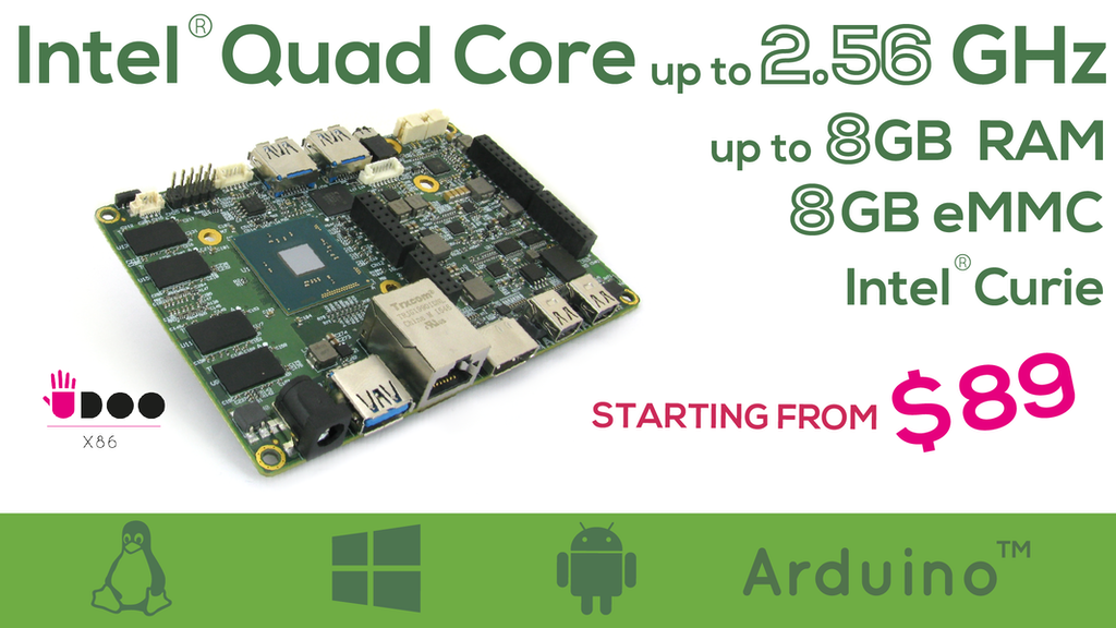 UDOO X86: The Most Powerful Maker Board Ever project video thumbnail