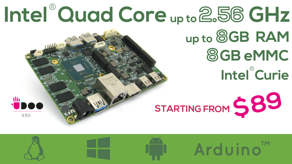 Udoo X86 The Most Powerful Maker Board Ever Project Video