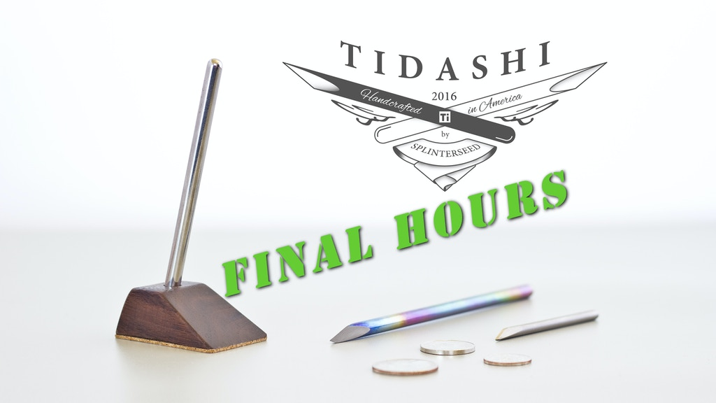 Tidashi, a titanium mini knife project video thumbnail