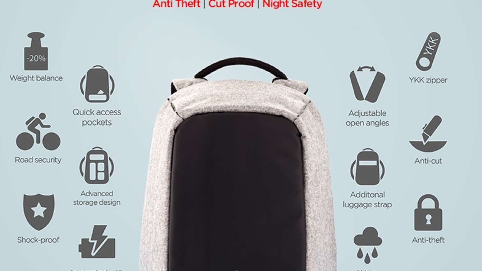 1dd75117e91 Bobby, the Best Anti Theft backpack by XD Design. Every day 400.000 pick  pocket incidents occur worldwide. Never worry about this happening to you