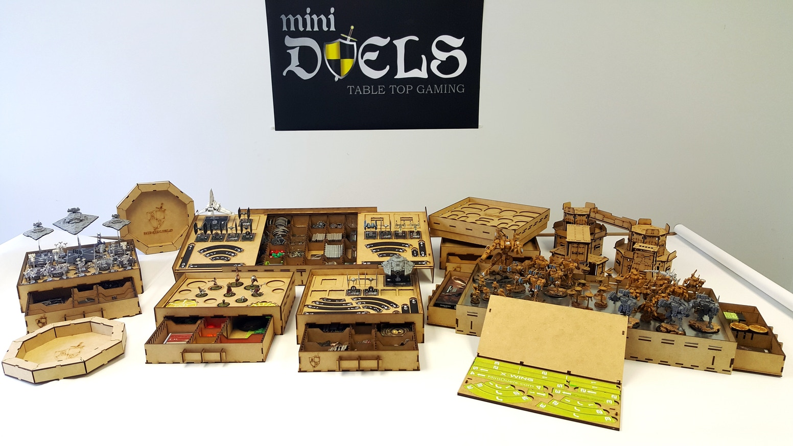 We create and produce tabletop terrain, trays and accessories.