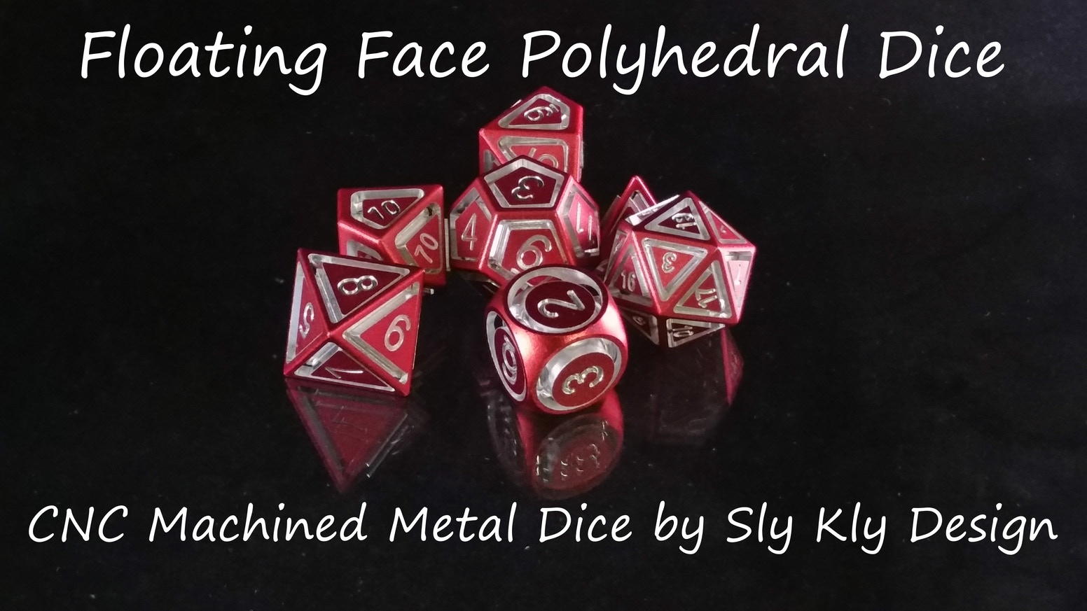 Precision Machined Metal Dice for Perfect Balance. Floating Face Style - Each Die is precision machined into 2 pieces!