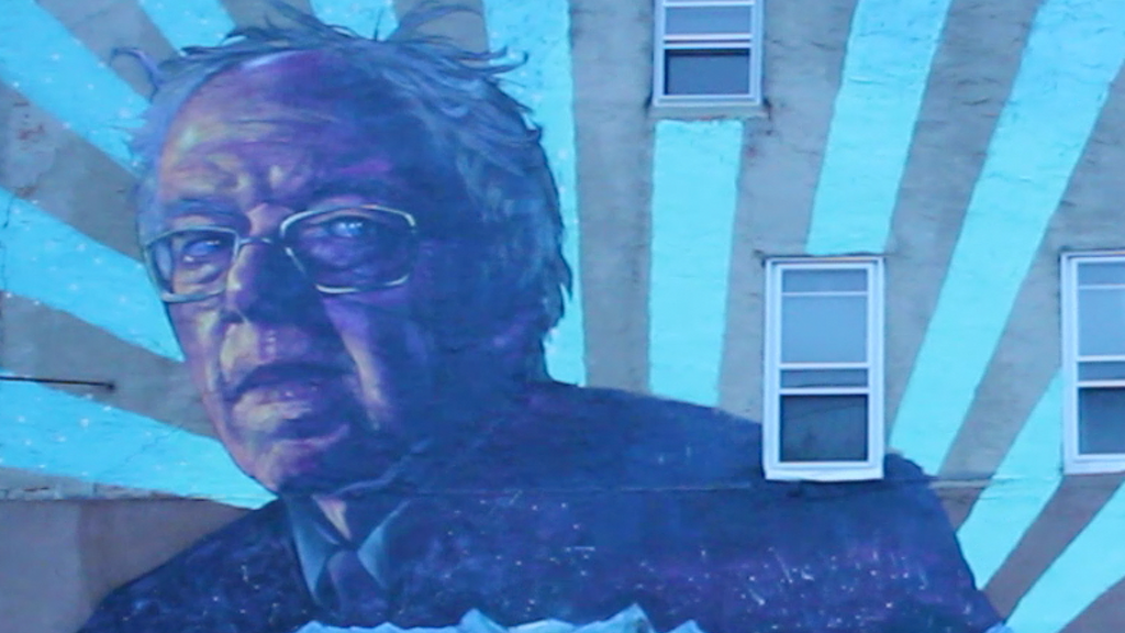 #PhillyTheBern Bernie Sanders Mural by Old Broads and Disto project video thumbnail
