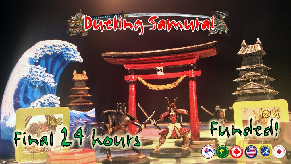 Dueling Samurai: A fast and furious board game of conquest. project video thumbnail