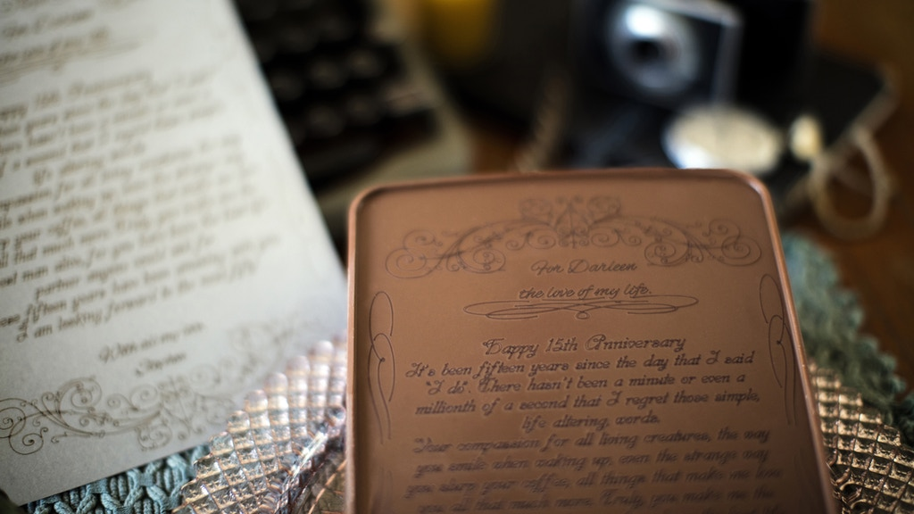 Noteworthy Chocolates - Your message engraved in chocolate project video thumbnail