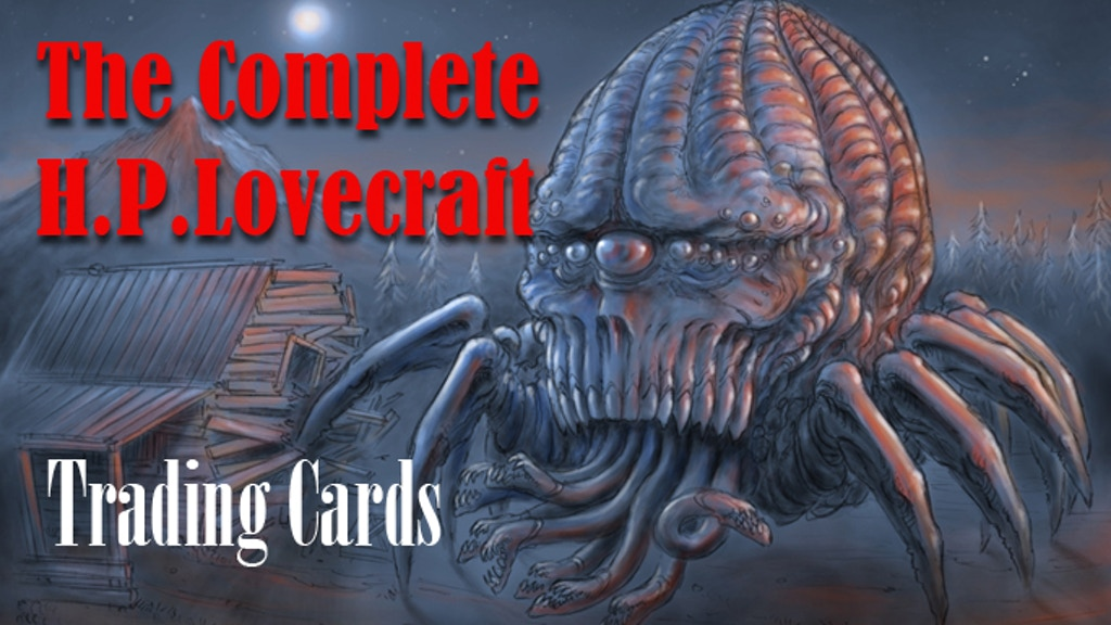 H.P. Lovecraft Trading Cards-- The COMPLETED Series! project video thumbnail