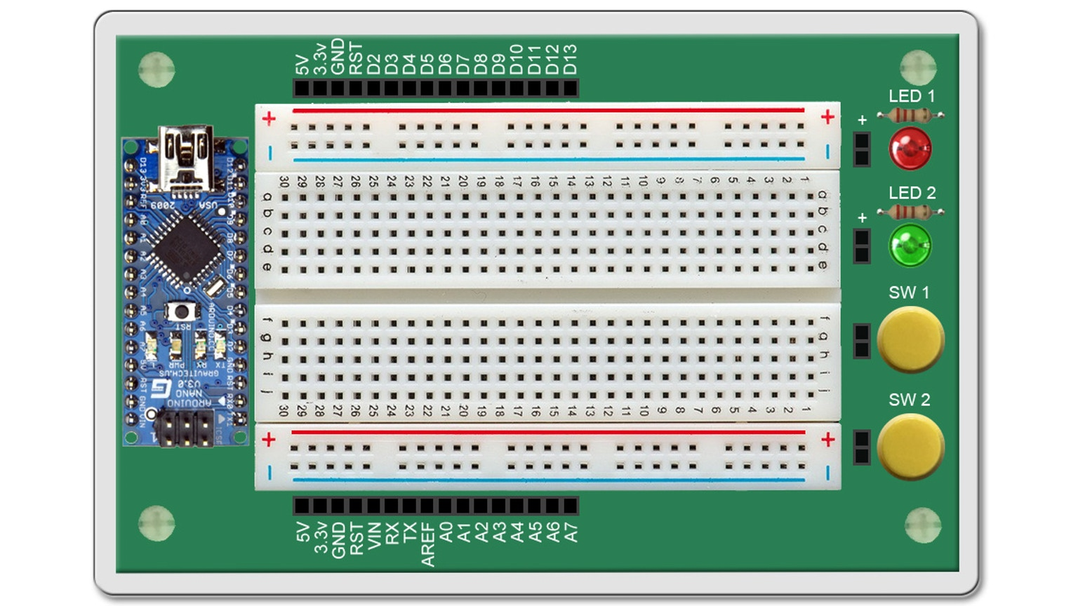 Arduino learning board mini projects online lessons