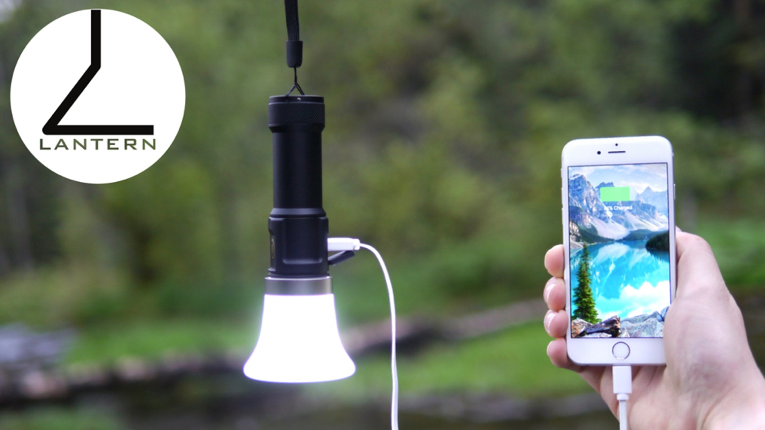 1000 lumen USB rechargeable lantern flashlight with 4000mAh USB battery backup and 360 bike mount. Charge any device. We want to extend the Kickstarter community 20% off any of our products. Use promo code KICKSTARTER20 at checkout.