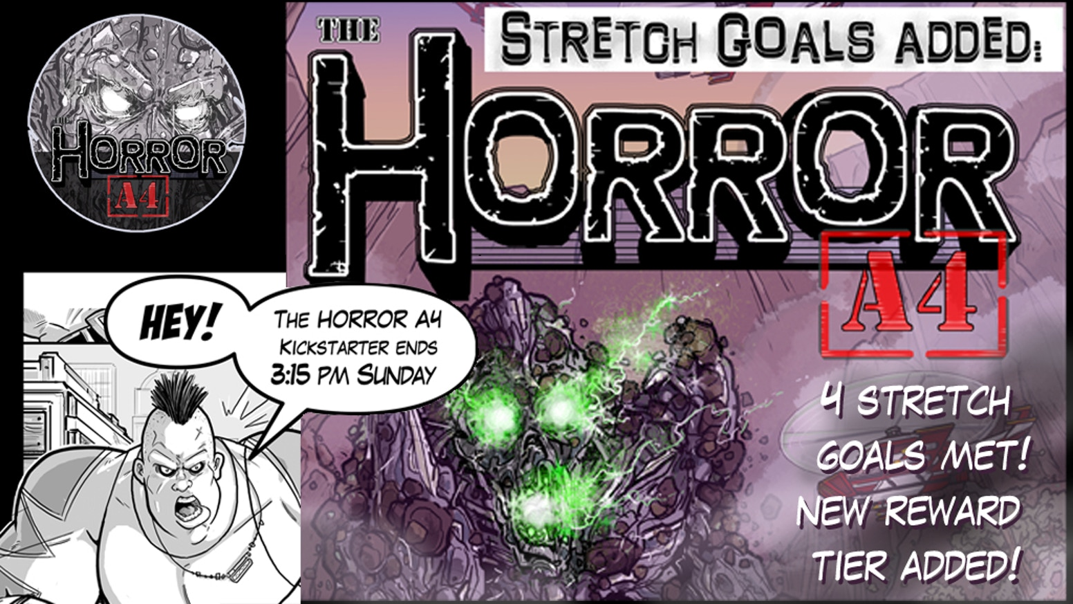 """Giant monsters and super heroes used to be a reality. None have been seen in a century. One resurfaces, they call it: """"The Horror A4"""""""