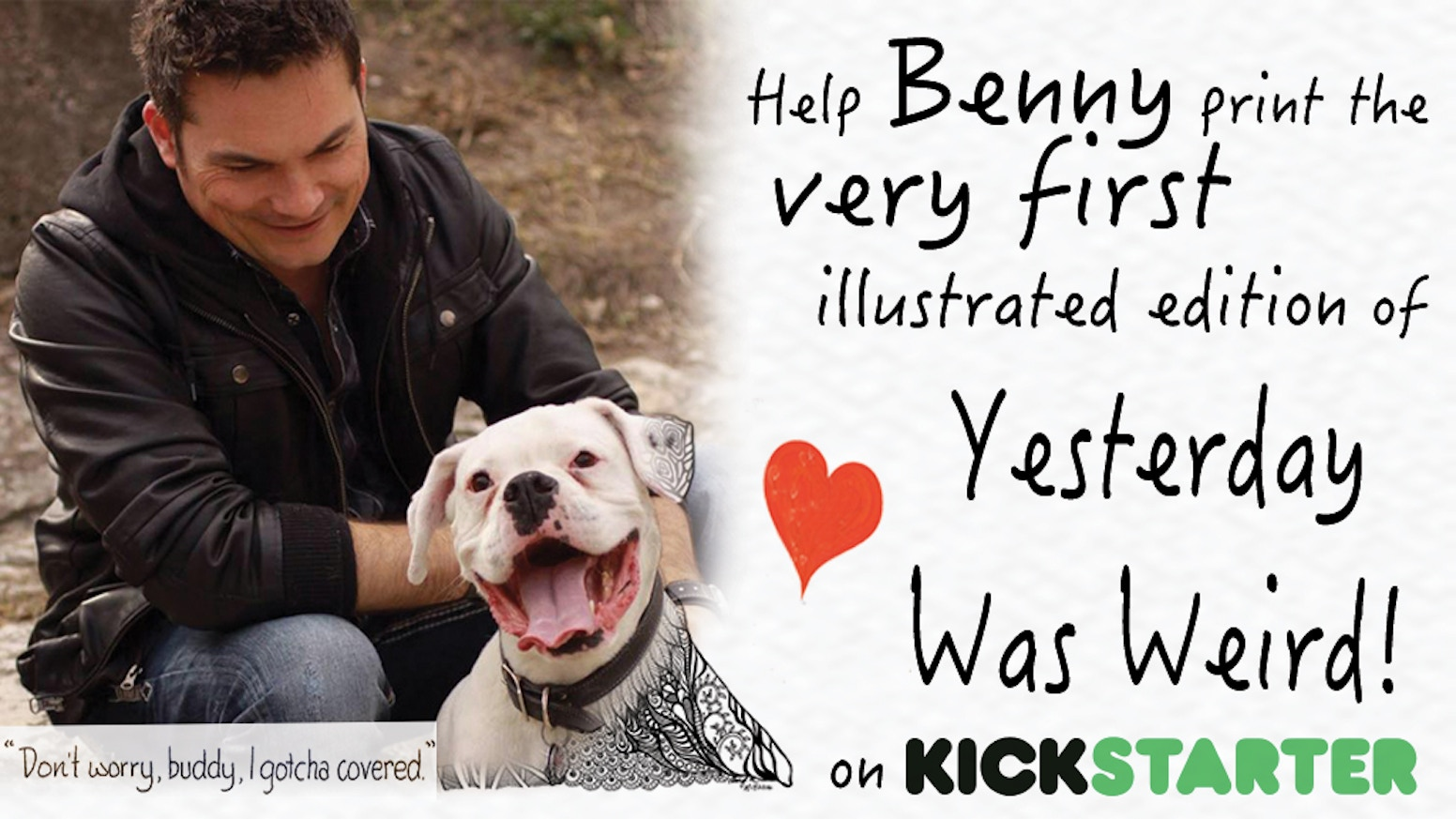 """An illustrated version of """"Yesterday was Weird..."""" Benny's viral post about his own death, and the love that conquered it."""