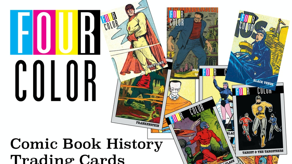 four color the comic book history trading card set by. Black Bedroom Furniture Sets. Home Design Ideas