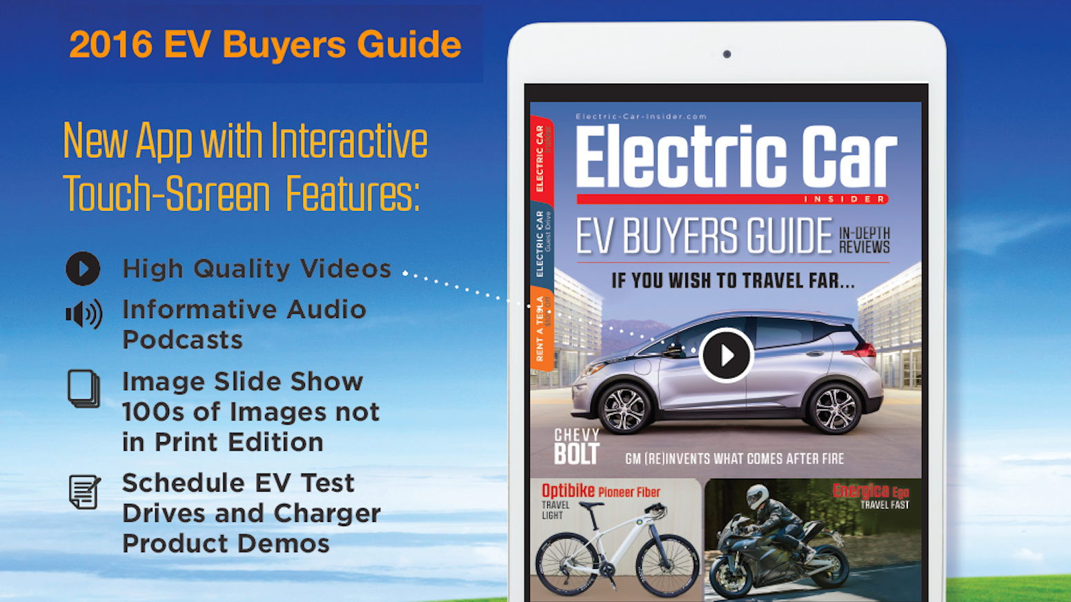Electric Car Insider - Interactive App for Mobile and Tablet by