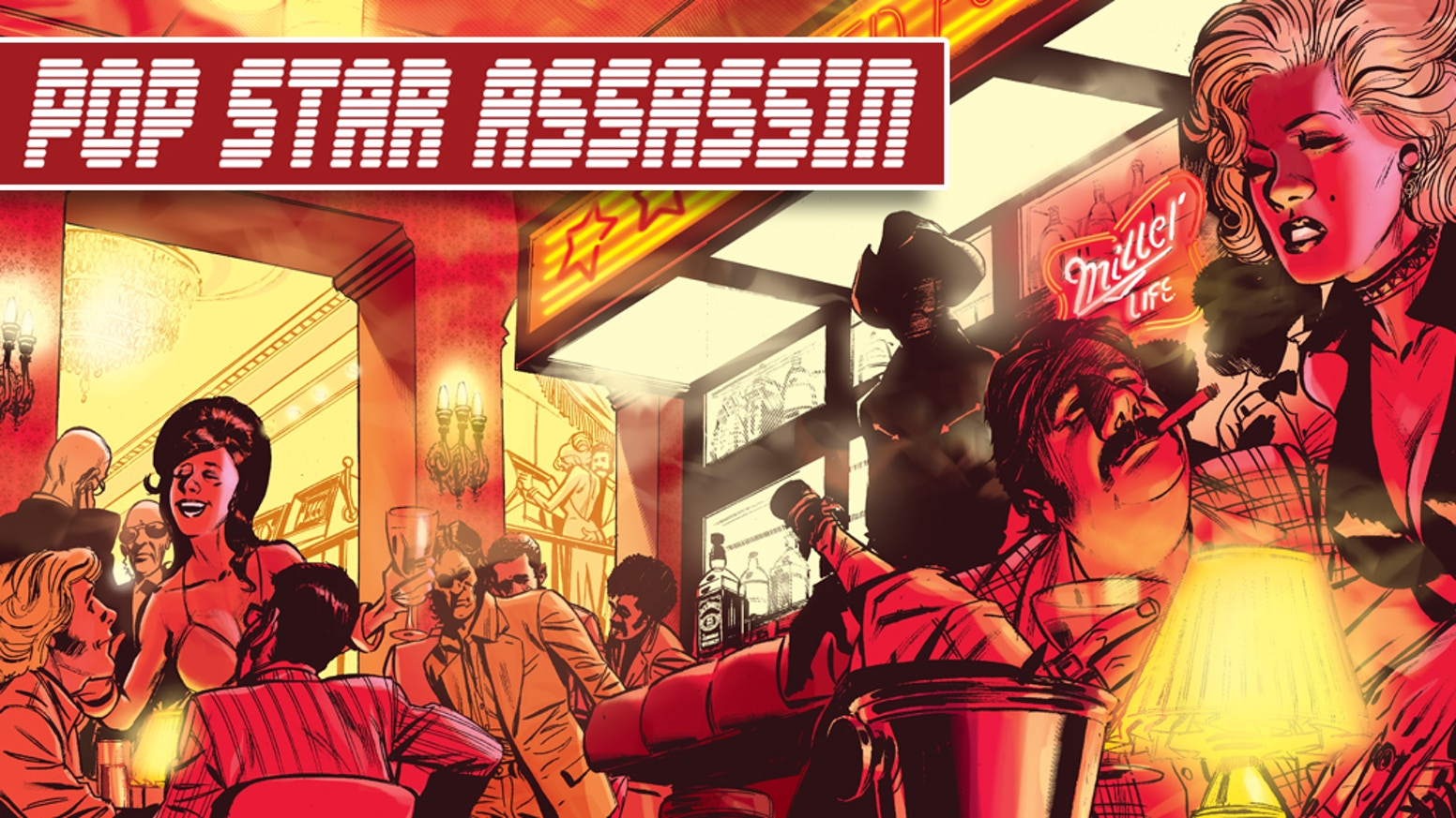 Planned as a full-color, 6 issue mini-series, Pop Star Assassin is a lysergic trip to the heart of American CONSPIRANOIA.