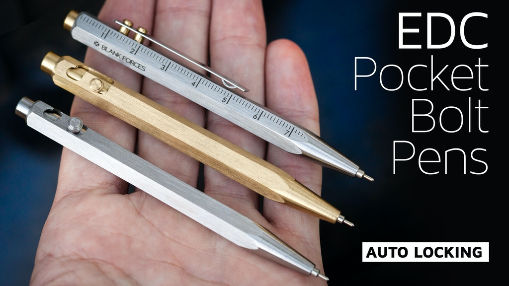 EDC Pocket Bolt Pen · Auto-Locking Bolt Action Pens project video thumbnail