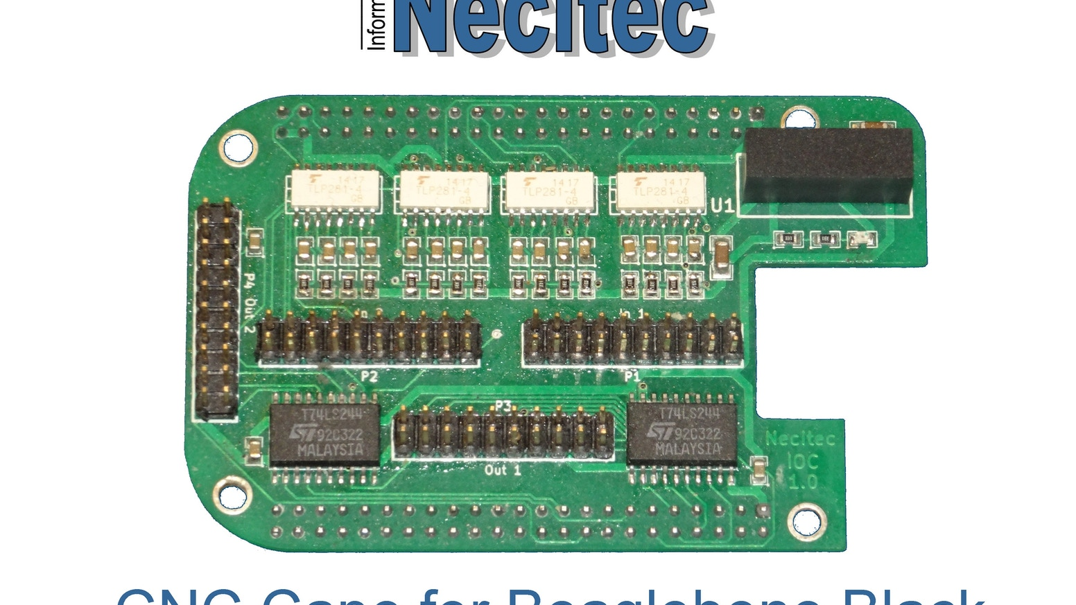 Up to 4 axis Beaglebone black based CNC control by Necitec