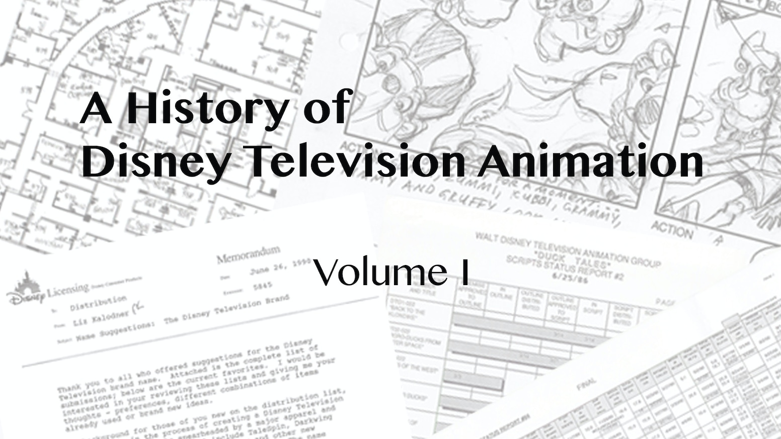 The History of Disney Television Animation, a rich history with the first volume focused on the first decade.