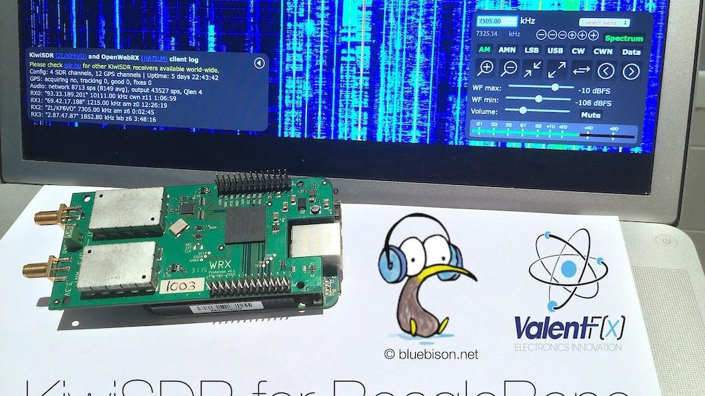 KiwiSDR: BeagleBone Software-defined Radio (SDR) with GPS project video thumbnail