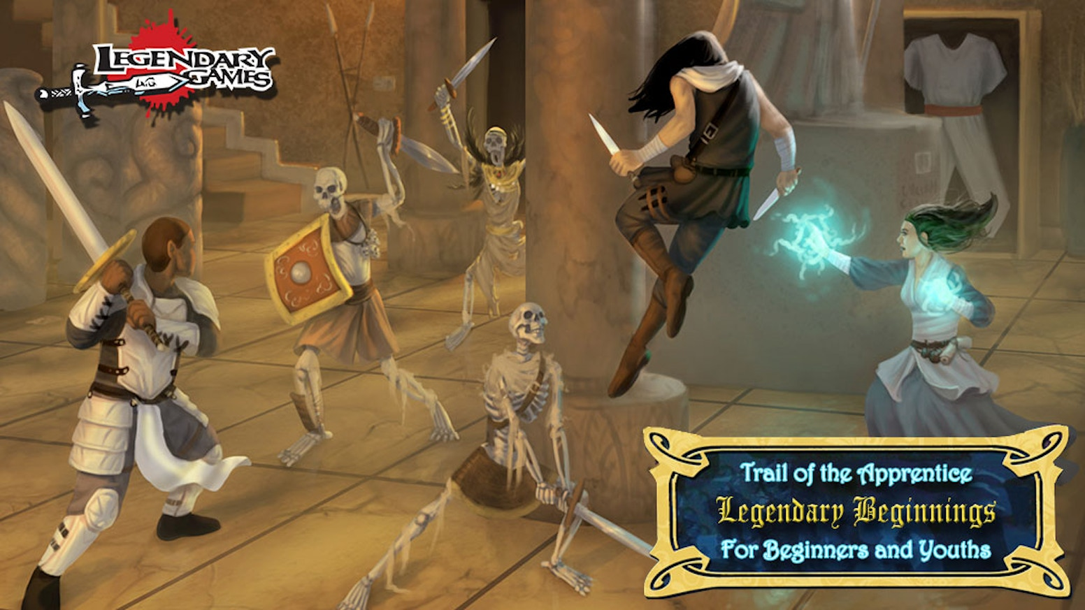 This action-packed 5-part adventure saga for Pathfinder RPG and 5E is an amazing introduction to new or younger players & gamemasters.