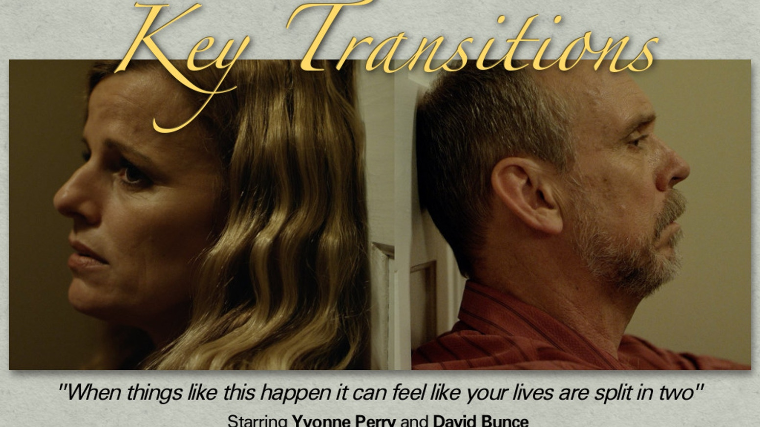 The recently completed short film KEY TRANSITIONS seeks funds to enhance its festival exposure to reach the widest public audience.