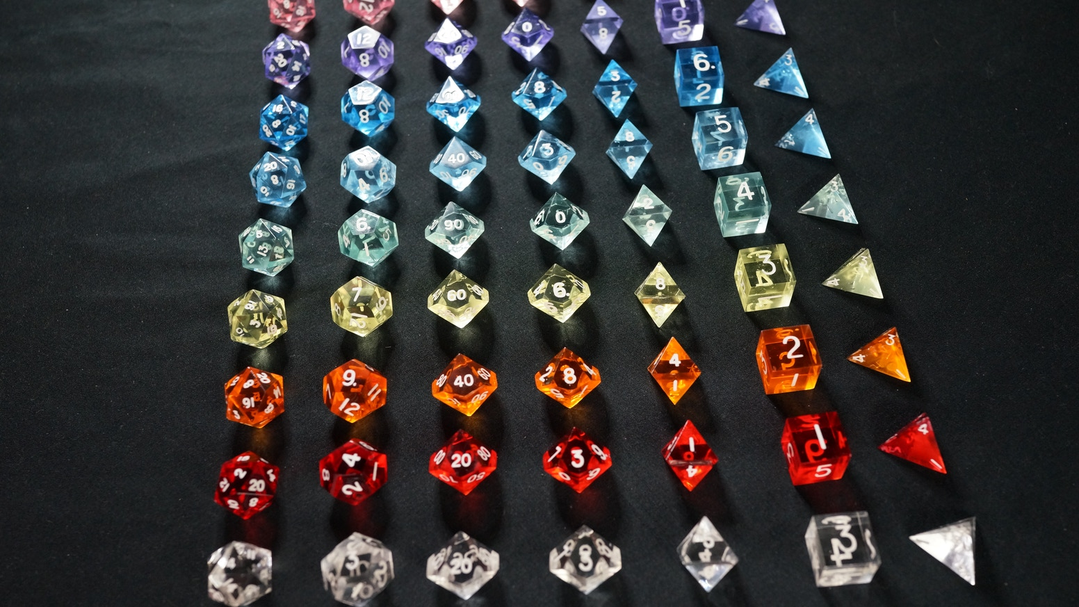 Prism Dice : Handmade from Bulletproof Glass by Relic Dice