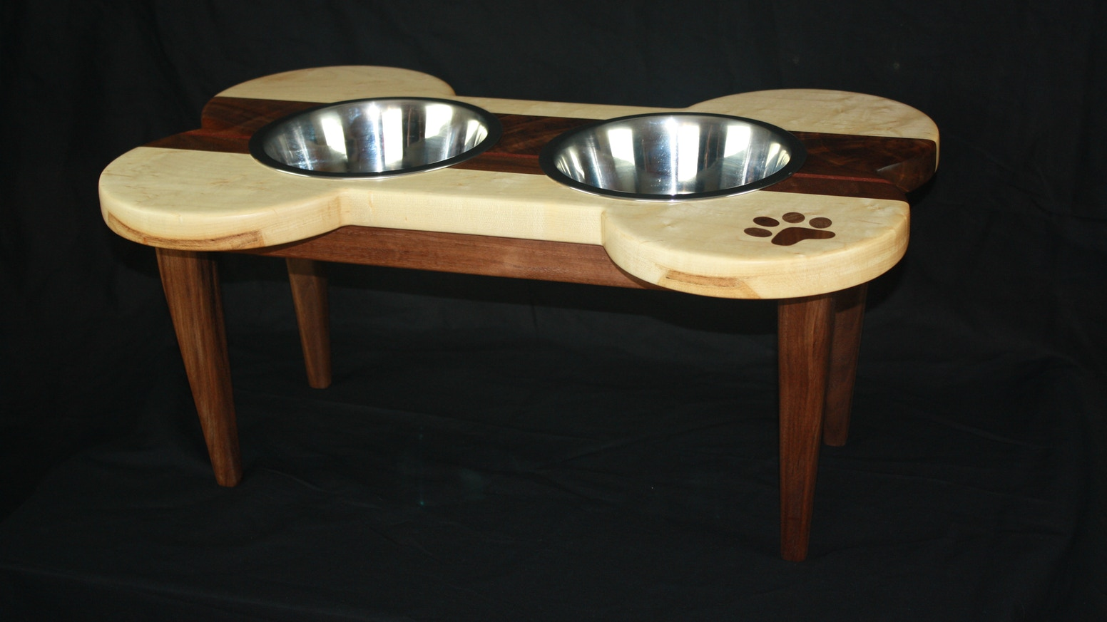 Fine Handmade Wood Cat Dog Dining Tables