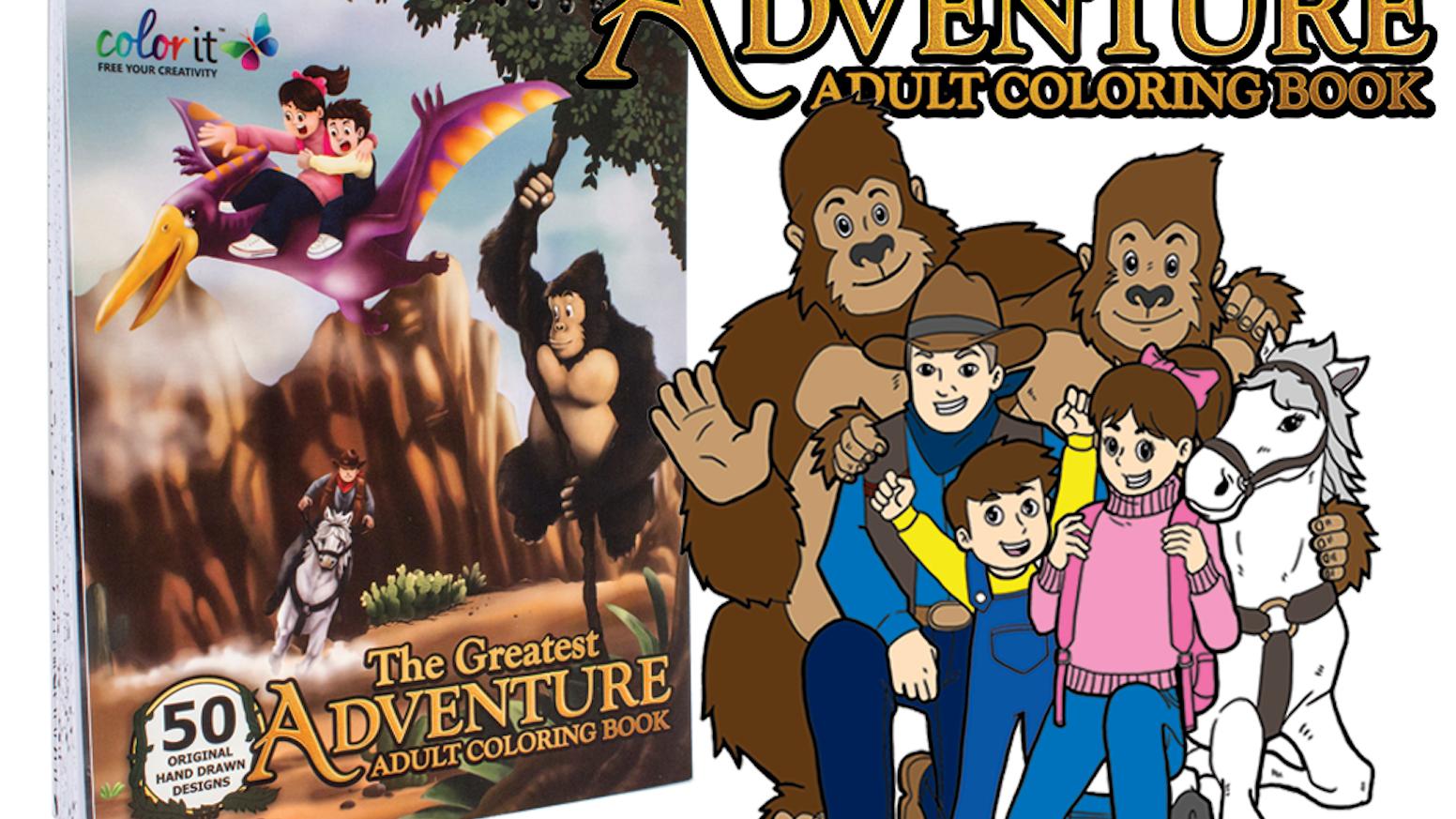 The Greatest Adventure Premium Adult Coloring Book