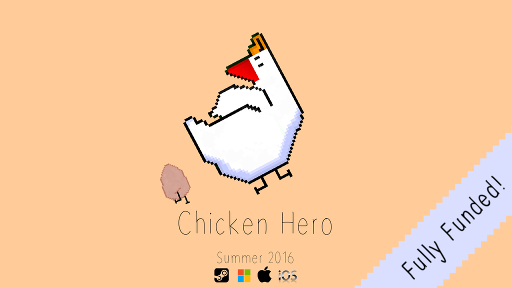 Chicken Hero - A quirky, pixel platformer project video thumbnail