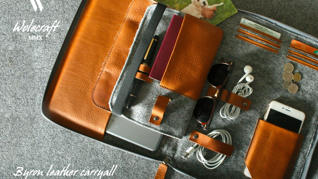 BYRON: The First 2 in 1 Leather Carryall. project video thumbnail