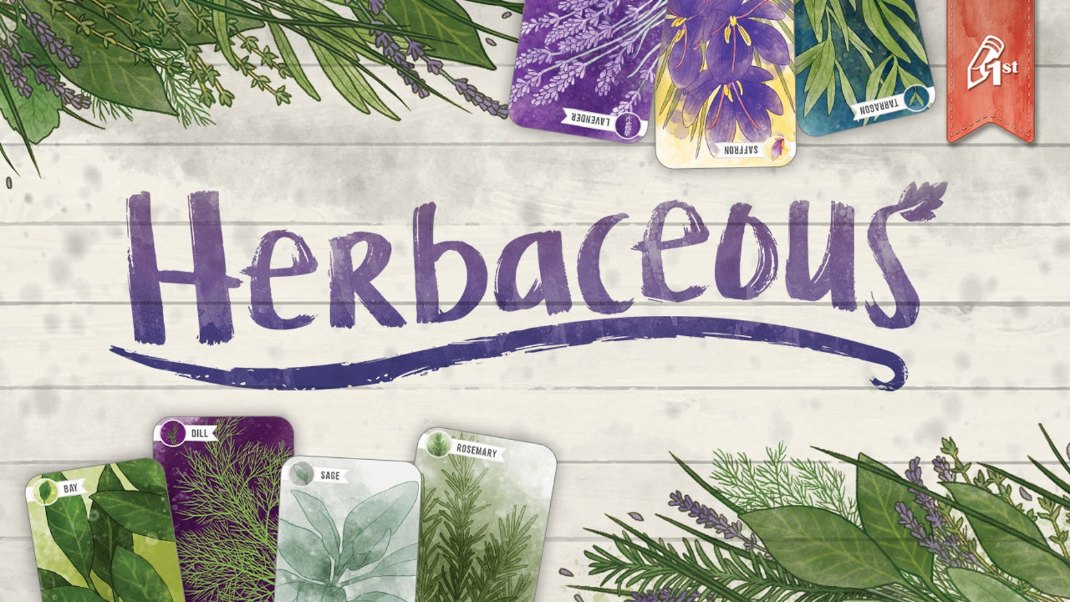 Herbaceous! A relaxing card game for 1 to 4 players of all ages. Simple to teach, easy to learn, and always packed with flavor.