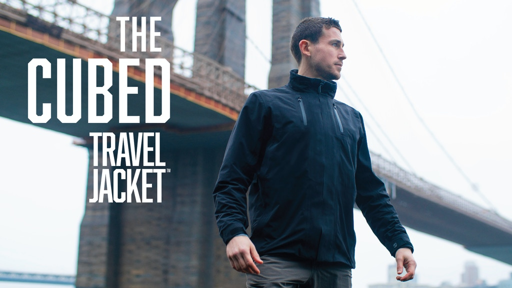 The Cubed Travel Jacket™: A Waterproof Shell for Everyday project video thumbnail