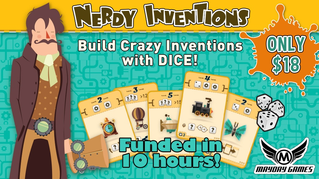 Nerdy Inventions - The Crazy Inventions Dice Game project video thumbnail