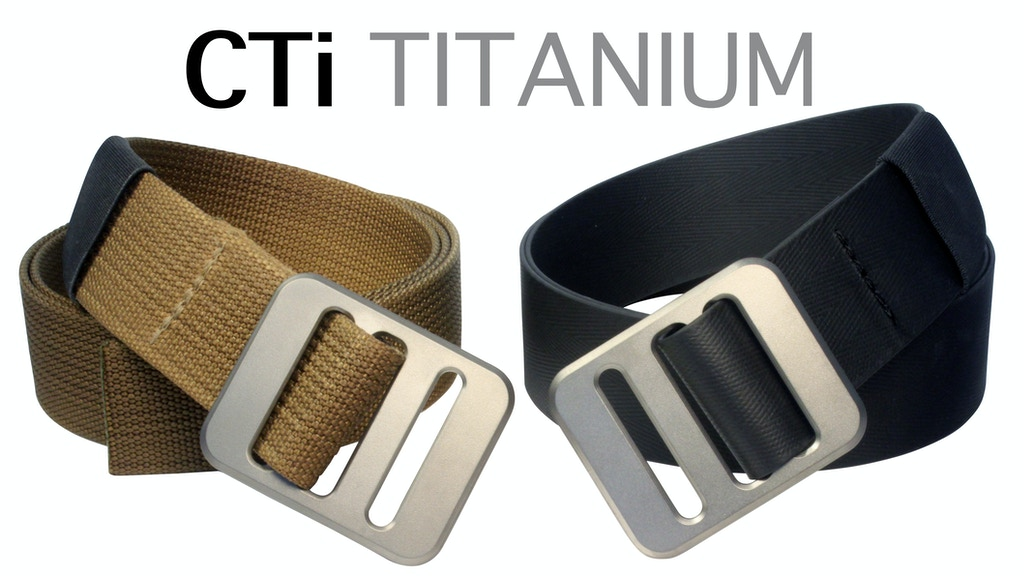 CTi - Ultimate Titanium EDC Belt project video thumbnail