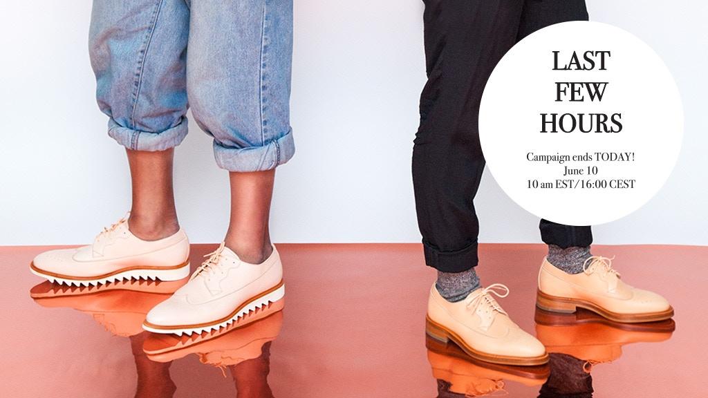 Menswear-inspired footwear for women, men & nonbinary folks. project video thumbnail