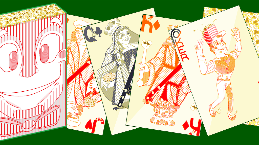 Project image for Fun Theater Popcorn Themed Poker Deck