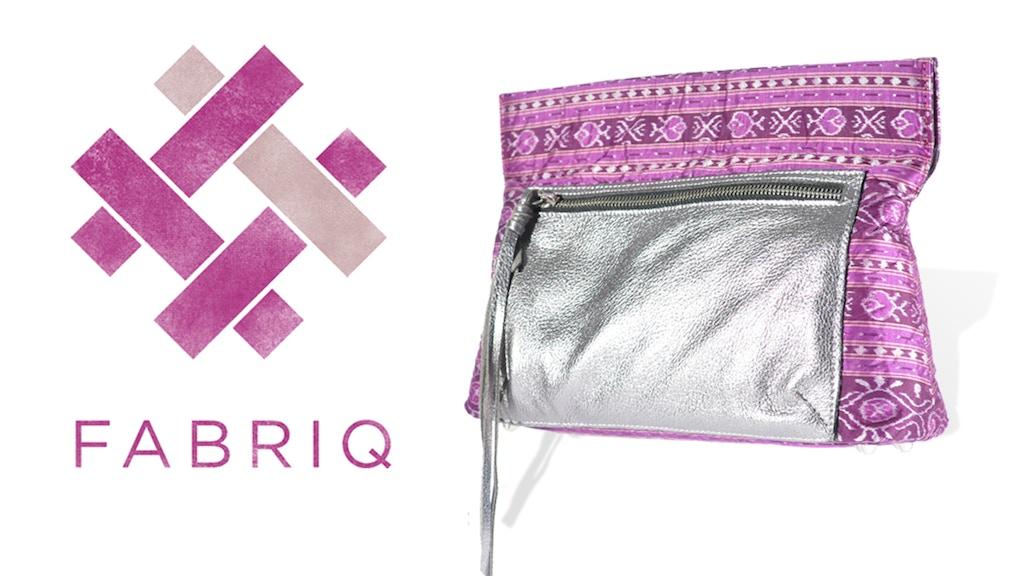 F A B R I Q Handbags made with handloom textiles project video thumbnail