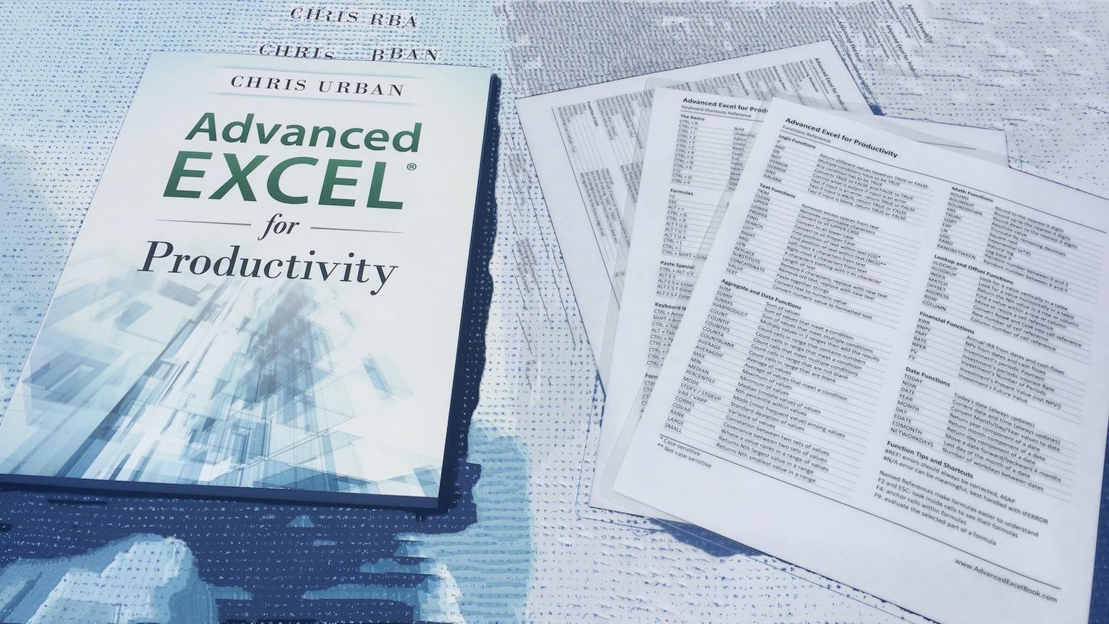 advanced excel book by chris urban kickstarter