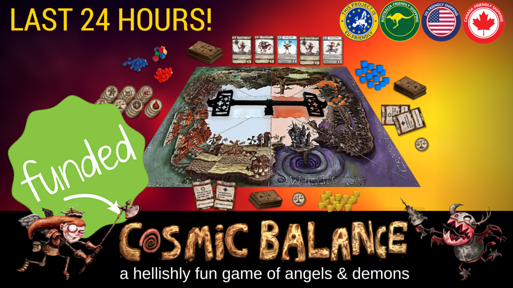 Cosmic Balance Strategy Boardgame of Angels and Demons project video thumbnail