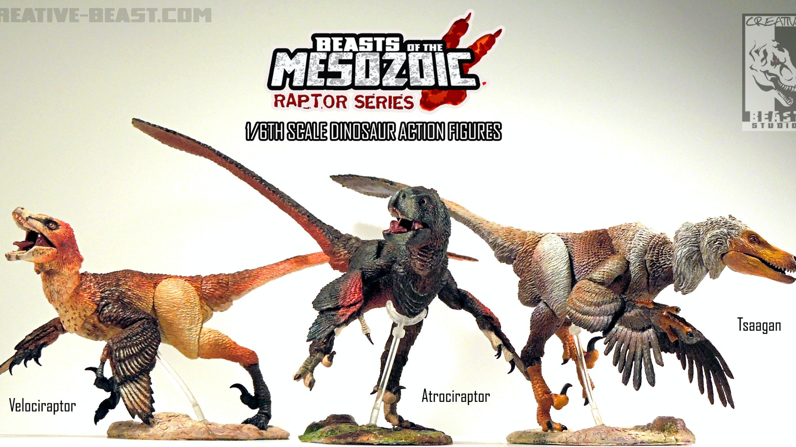 Beasts of the Mesozoic is a line of 1/6th scale scientifically accurate dinosaur action figures, with great detail and articulation.